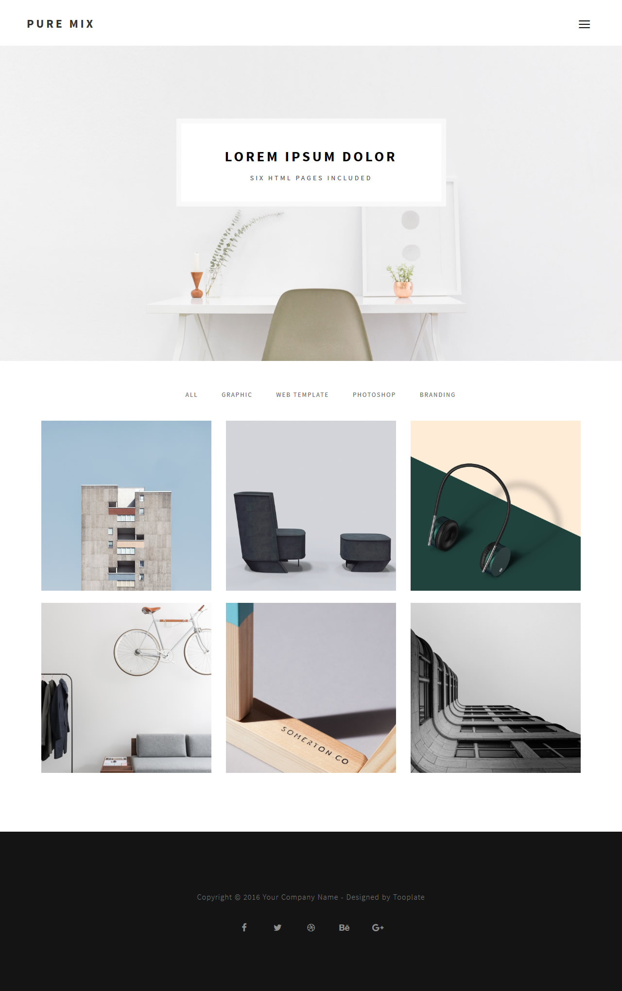 Pure Mix 6 pages HTML Template