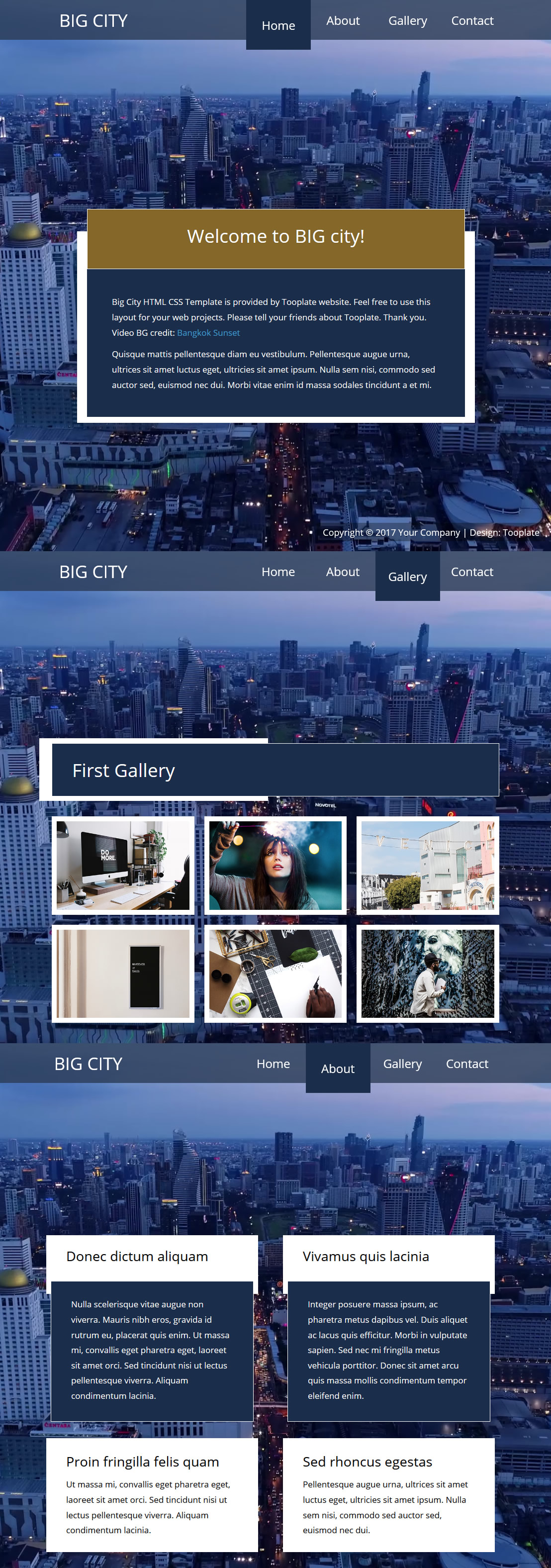 Big City HTML Template
