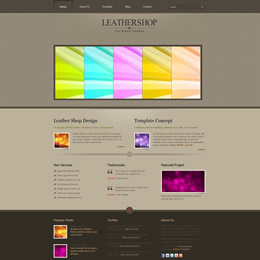 Leather Shop template