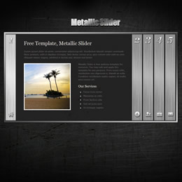 Metallic Slider template